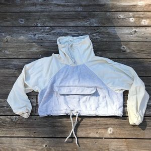 We the free shell cotton cropped pullover